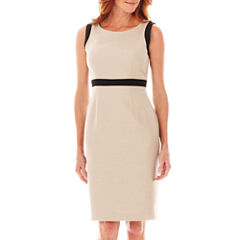 Black Label by Evan-Picone Sleeveless Framed Inset Dress