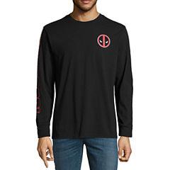 Novelty Season Long Sleeve Deadpool Graphic T-Shirt