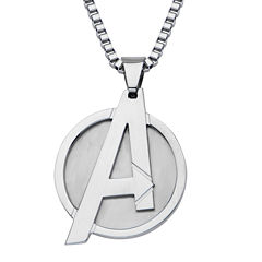 Marvel Avengers Logo Mens Stainless Steel Pendant Necklace