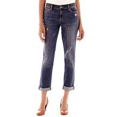 Liz Claiborne® City-Fit Boyfriend Skinny Jeans