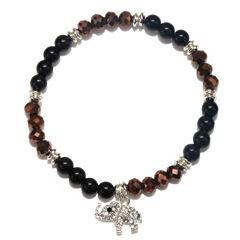 Mixit™ Silver-Tone Glass Crystal Bead Stretch Elephant Bracelet