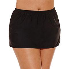 Costa Del Sol Solid Swim Skirt-Juniors Plus