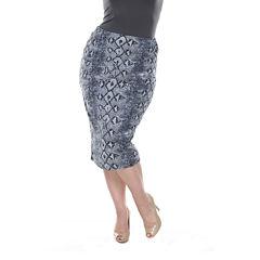 White Mark Jordan Pencil Skirt Plus