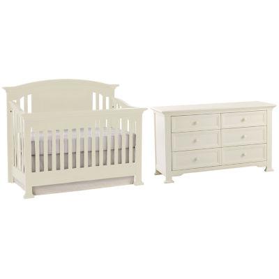 Centennial Medford 2 PC Baby Furniture Set  White