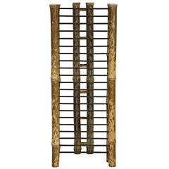 Oriental Furniture Japanse Bamboo Vertical Media Tower