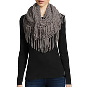 Mixit™ Diamond Stitch Fringe Loop Scarf