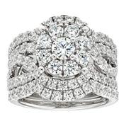 3 Ct. T.W. Diamond 10K White Gold Engagement Ring