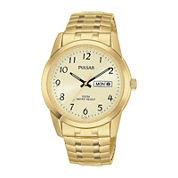 Pulsar® Mens Gold-Tone Expansion Watch PJ6054
