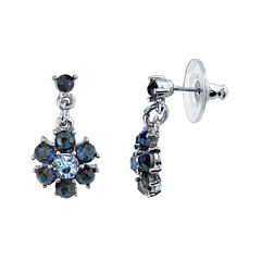 1928® Jewelry Blue Crystal Drop Earrings