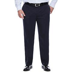 Savane® Micro Mélange Flat-Front Dress Pants - Big & Tall