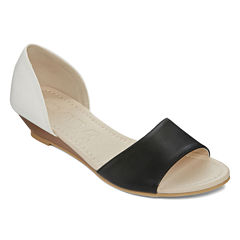 Groove Robin Open-Toe Wedge Shoes