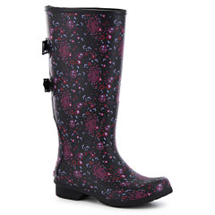 Chooka Fashion Versa Zuri Womens Waterproof Rain Boots Wide