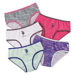 Us Polo Assn. 5 Pair Brief Panty Girls