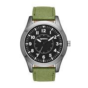 Arizona Mens Green And Black Strap Watch