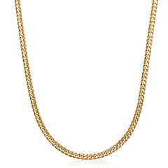 Made in Italy 14K Yellow Gold Solid 22 In Curb Link Necklace