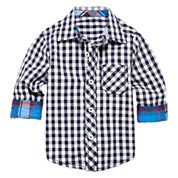 Arizona Long-Sleeve Woven Cotton Shirt - Baby Boys 3m-24m