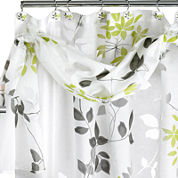 Popular Bath Mayan Leaf Shower Curtain with Valance