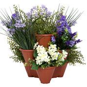 Pure Garden Set of 3 Stackable Planters