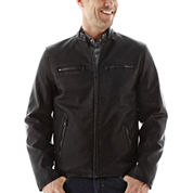 Dockers® Faux-Leather Racer Jacket