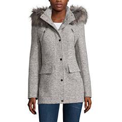 a.n.a® Faux-Fur Trim Anorak Wool Coat - Tall