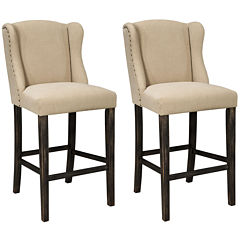 Signature Design by Ashley® Moriann Upholstered Set of 2 Barstools