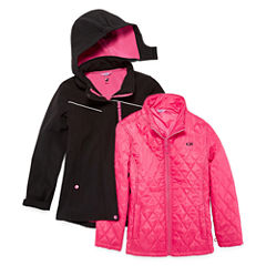 CB Sports Girls Heavyweight 3-In-1 System Jacket-Big Kid