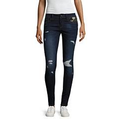 Rewash Piped Camo Skinny Jeans-Juniors
