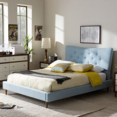 Baxton Studio Hannah Platform Tufted Bed