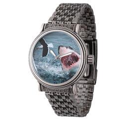 Discovery Expedition Mens Gunmetal Shark Bracelet Watch