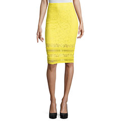 Project Runway Lace Trim Pencil Skirts
