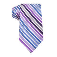 Van Heusen® Shaded Stripe Silk Tie - Extra Long
