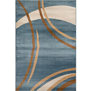 Alpine Waves Rectangular Rug