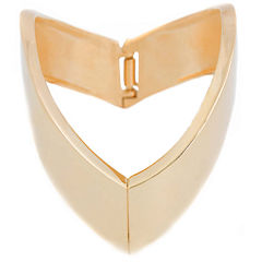a.n.a® Gold-Tone Arrow Bangle Bracelet