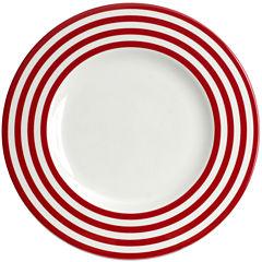 Red Vanilla Freshness Lines Dinner Plate