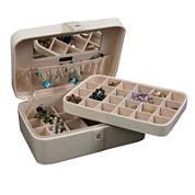 Mele & Co. Lila Ivory Faux-Leather Jewelry Box