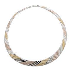 Made in Italy Tri-Tone Flex Necklace