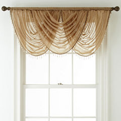 Royal Velvet® Crushed Voile Rod-Pocket Waterfall Valance