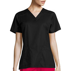 WonderWink® Womens Short-Sleeve Verity V-Neck Top - Plus