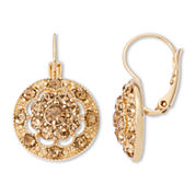 Monet® Gold-Tone Glass Cluster Drop Earrings