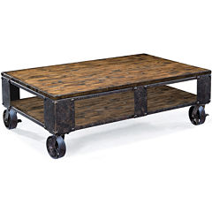 Ironwood Distressed Pine Large Rectangular Coffee Table