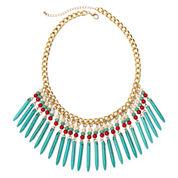 ROX by Alexa Multicolor Stones Fringe Necklace