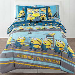 Despicable Me Industrial Minions Reversible Twin/Full Comforter + BONUS Sham Collection