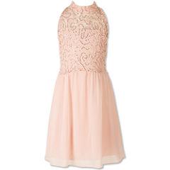 Speechless Embellished Sleeveless Party Dress - Girls' 7-16