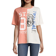 Split Graphic T-Shirt- Juniors