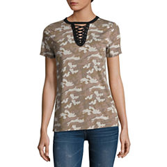 Arizona Lace Up T-Shirt- Juniors
