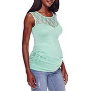 Maternity Garment Dye Lace Tank Top