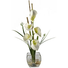 Calla Lilly Liquid Illusion Silk Flower Arrangement