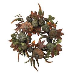 Nearly Natural 24 Pumpkin & Gourd Wreath