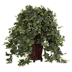 Nearly Natural Vining Puff Ivy With Decorative Vase Silk Plant