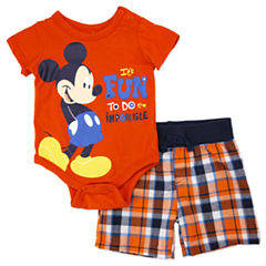 2-pc. Mickey Mouse Short Set Baby Boys
